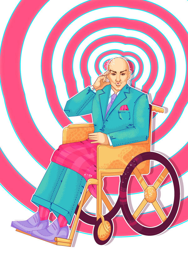 How to Create a Fabulous Professor X Pin-Up in Adobe Illustrator