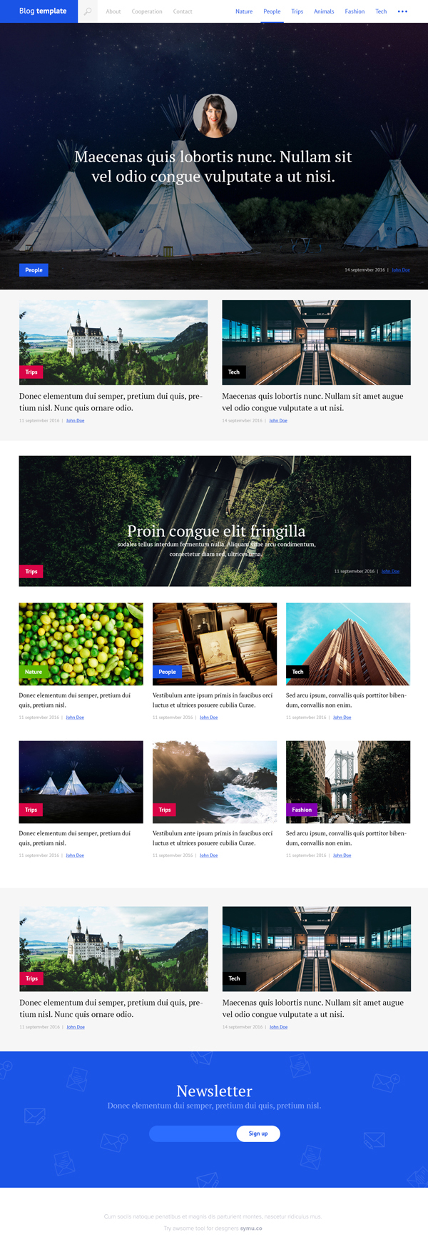 Free Blog PSD Template
