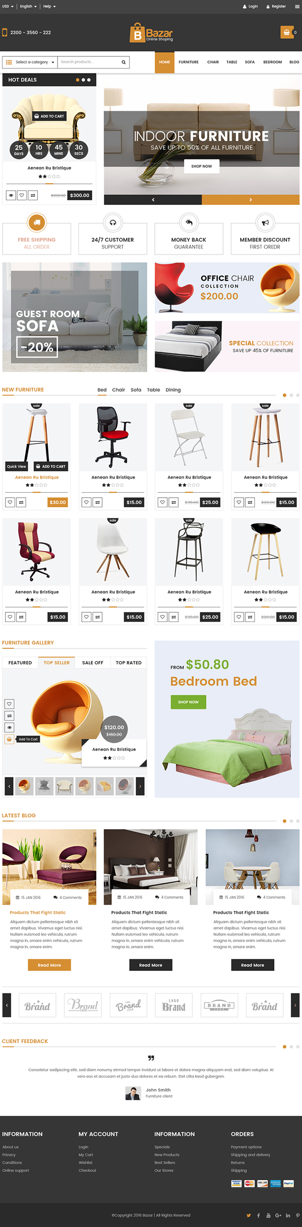 responsive psd website templates bies graphic bazar e commerce psd template