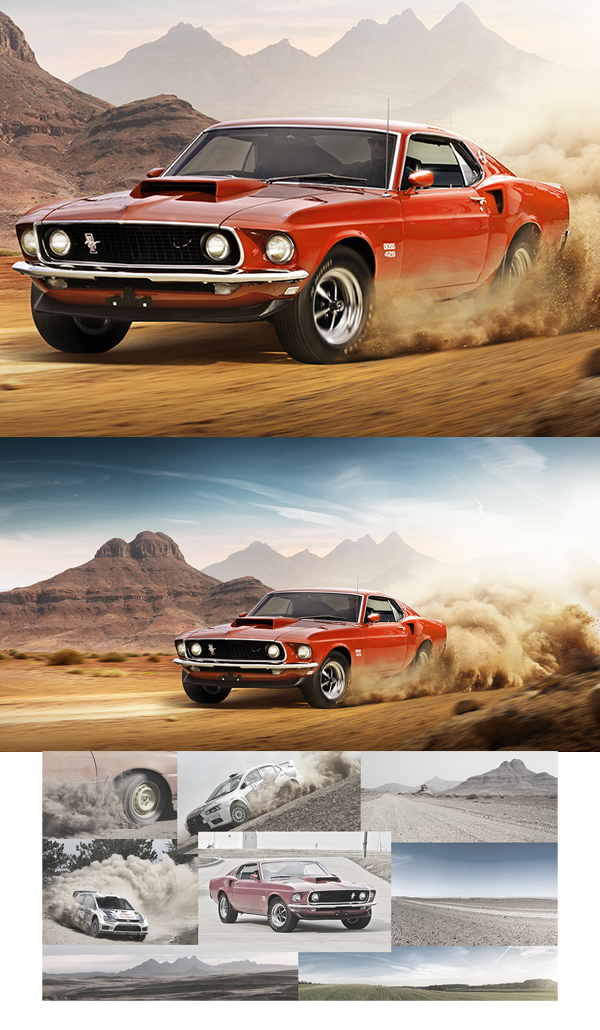 Muscle Racing Manipulation & Retouching