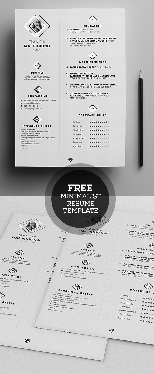cv resume templates psd mockups bies graphic mini st resume template psd