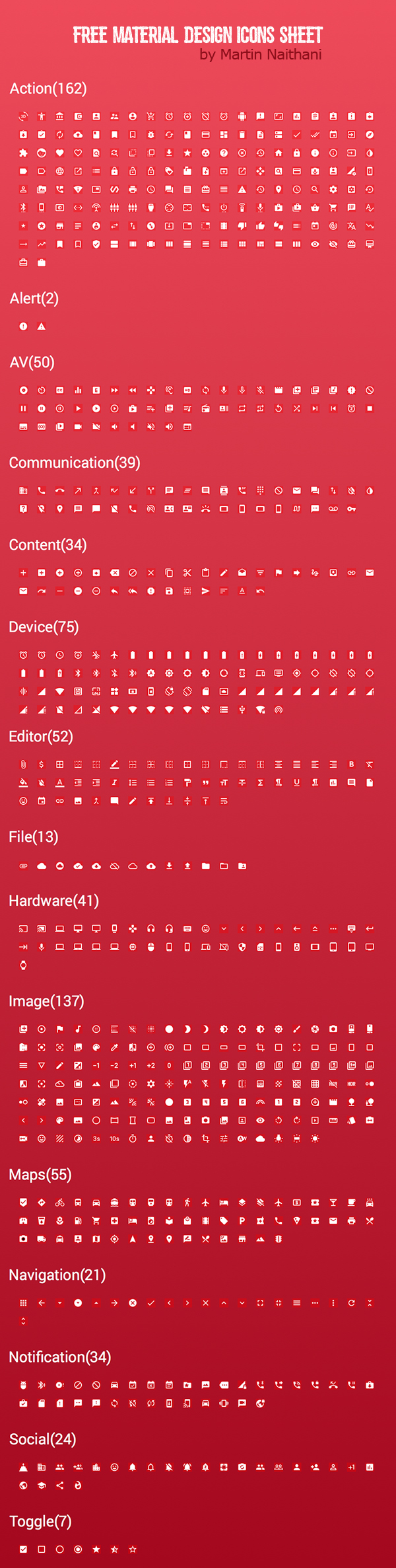 Free Google Material Icons Sketch