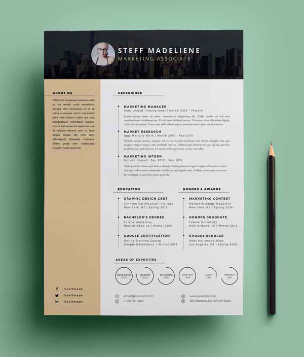 free resume template download - Free Download For Resume Templates