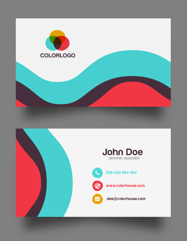 free business card design templates - 30 free business card psd templates mockups design