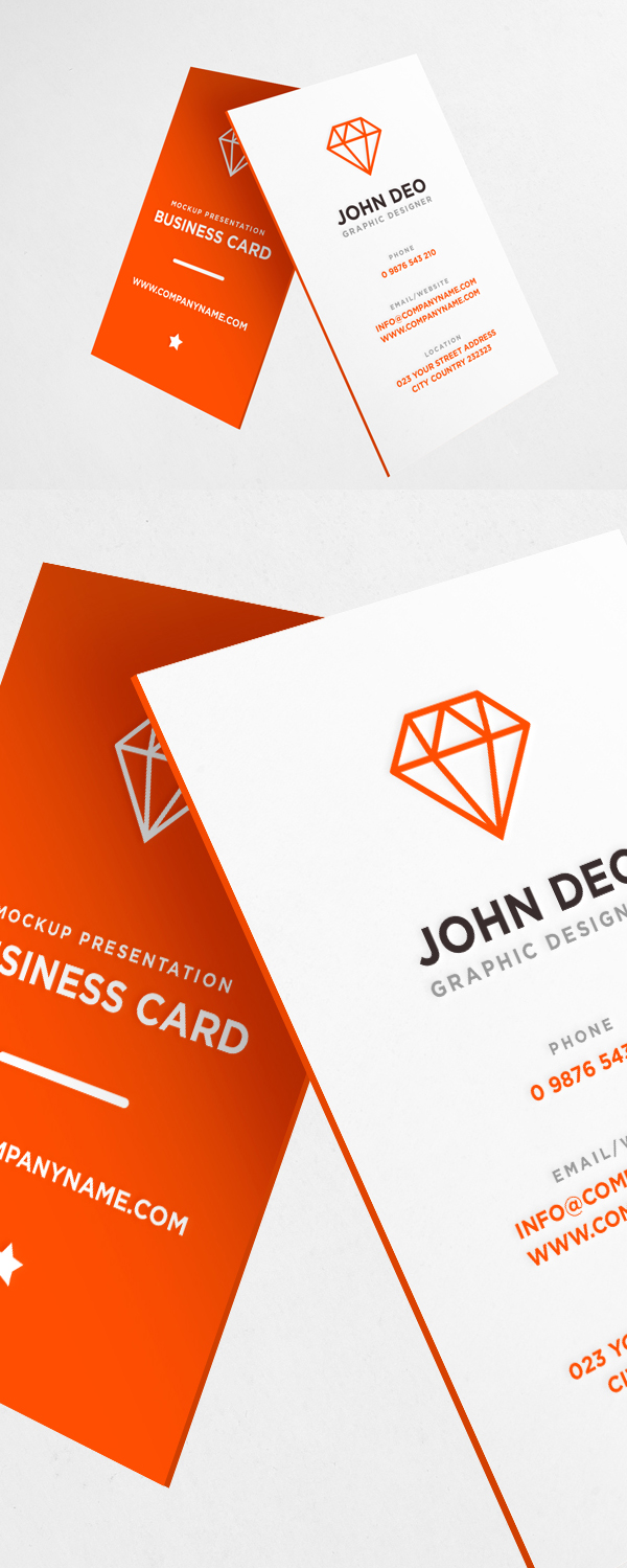 Business Card Mockup Template Free