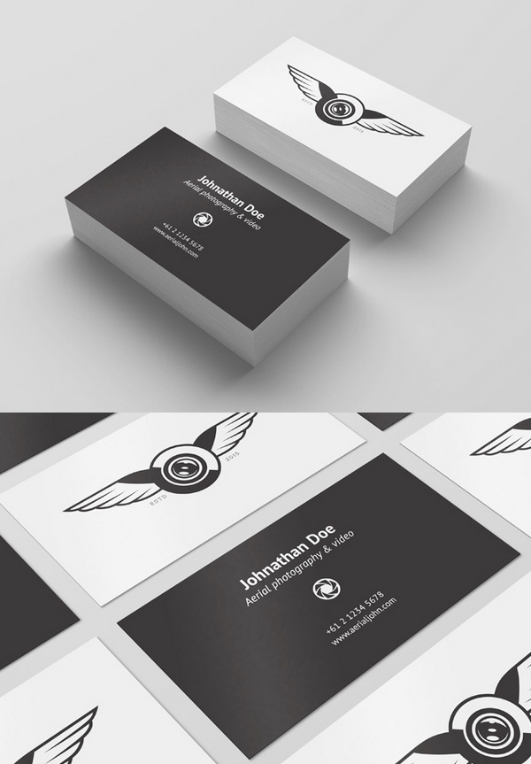 30 free business card psd templates mockups design for Business card presentation template psd