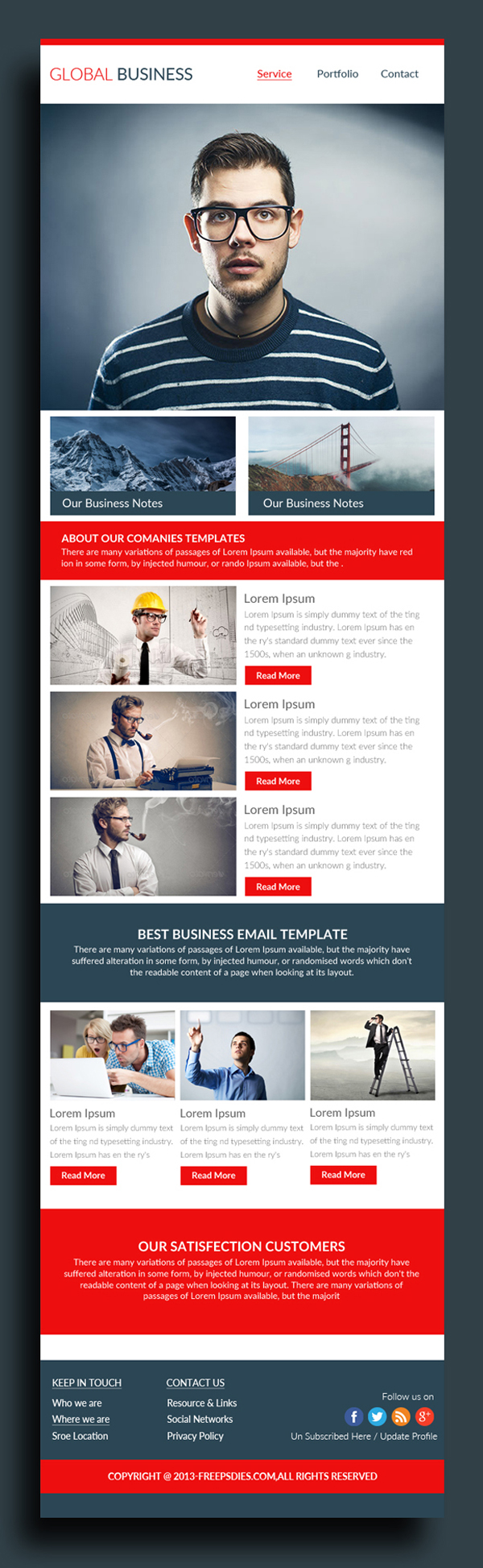 Free Business Email Template PSD