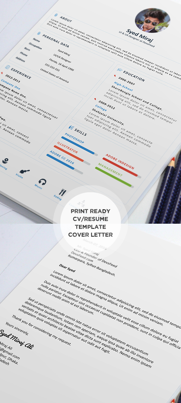 cv resume templates psd mockups bies graphic print ready resume and cover later