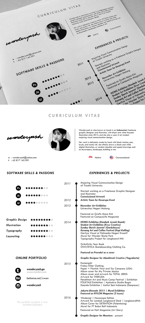 Resume Template Free The Best Cv Resume Templates Examples Design