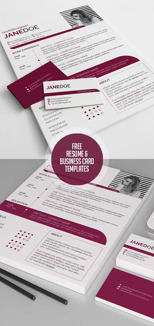 Free Resume and Visit Card Templates