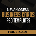 Post Thumbnail of 22 New Modern Business Cards PSD Templates