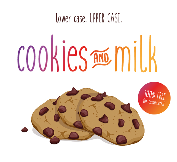 Cookies & Milk free fonts