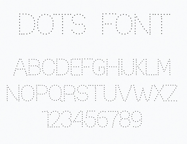 Dotted Dot fonts and letters