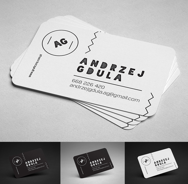 Free Rounded Business Card Mockup Template
