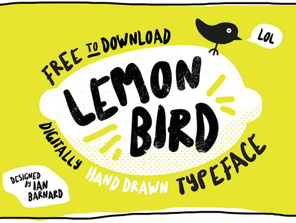 Lemon Bird free fonts