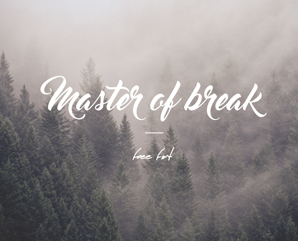 Master Of Break free fonts