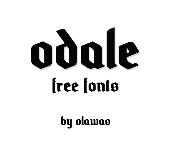 Odale free fonts