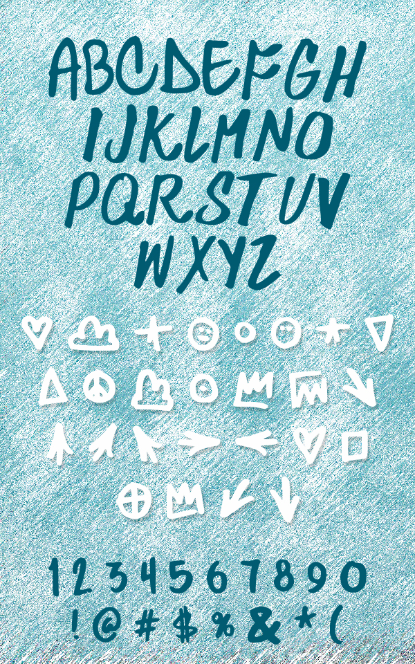 Skylarking fonts and letters