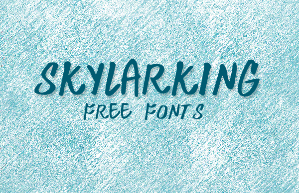 Skylarking free fonts