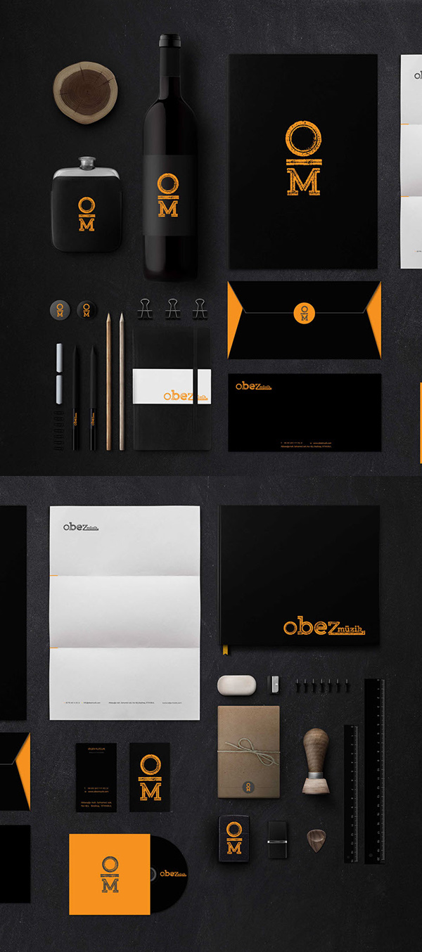 Obez iOS App and Branding Stationary