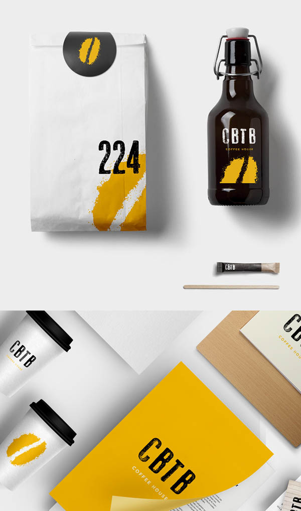 Coffee by the Beans Branding Stationary
