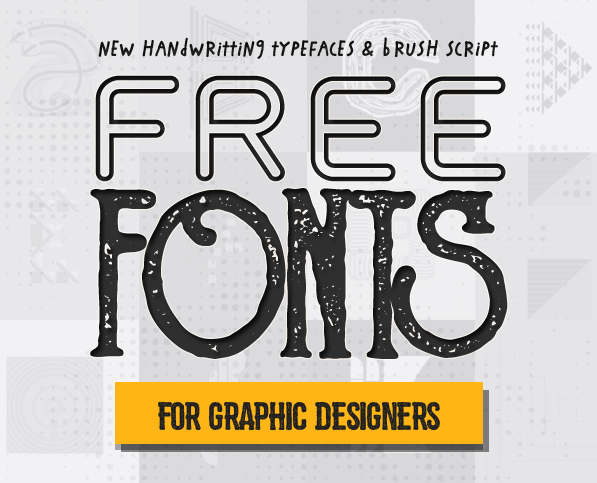 Free Fonts : 15 New Fonts for Graphic Designers