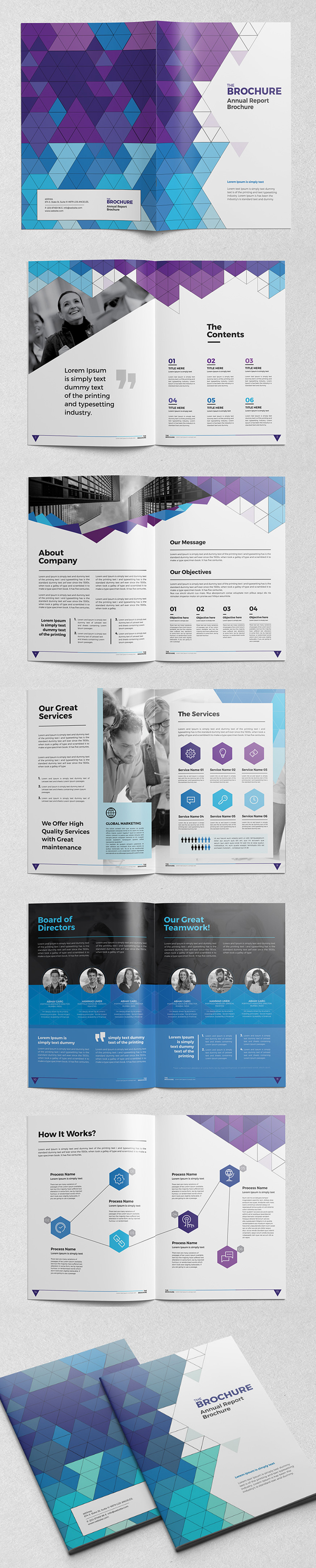 Abstract Brochure / Catalog InDesign Template