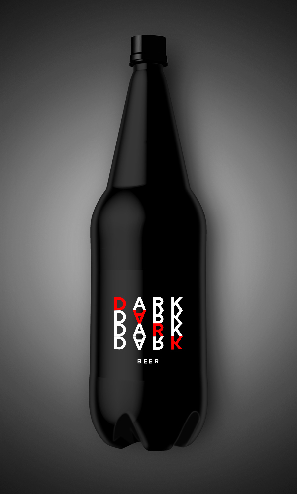 Free Black Bottle Mockup PSD