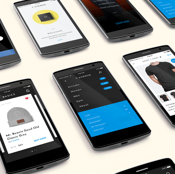 Smartphones App Screens Mockup
