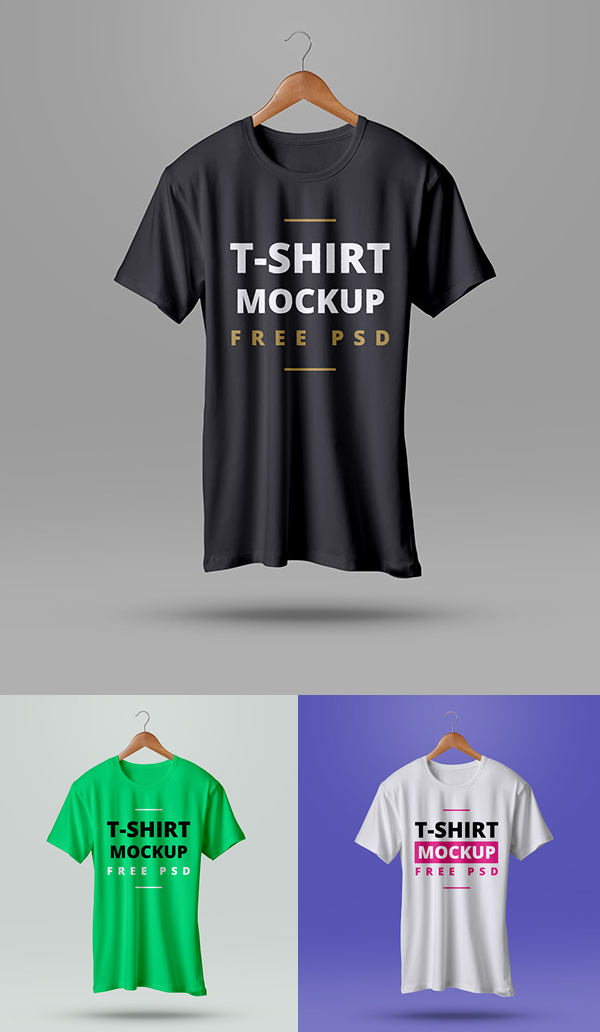 High Quality T-Shirt Mockup PSD