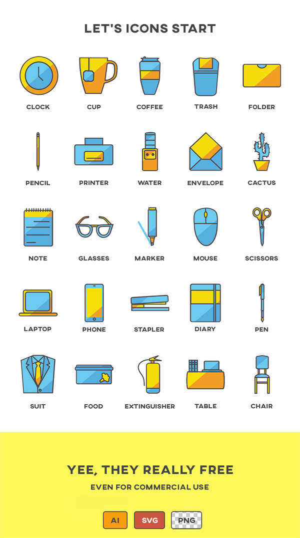 Business and Office Vector Icon Set