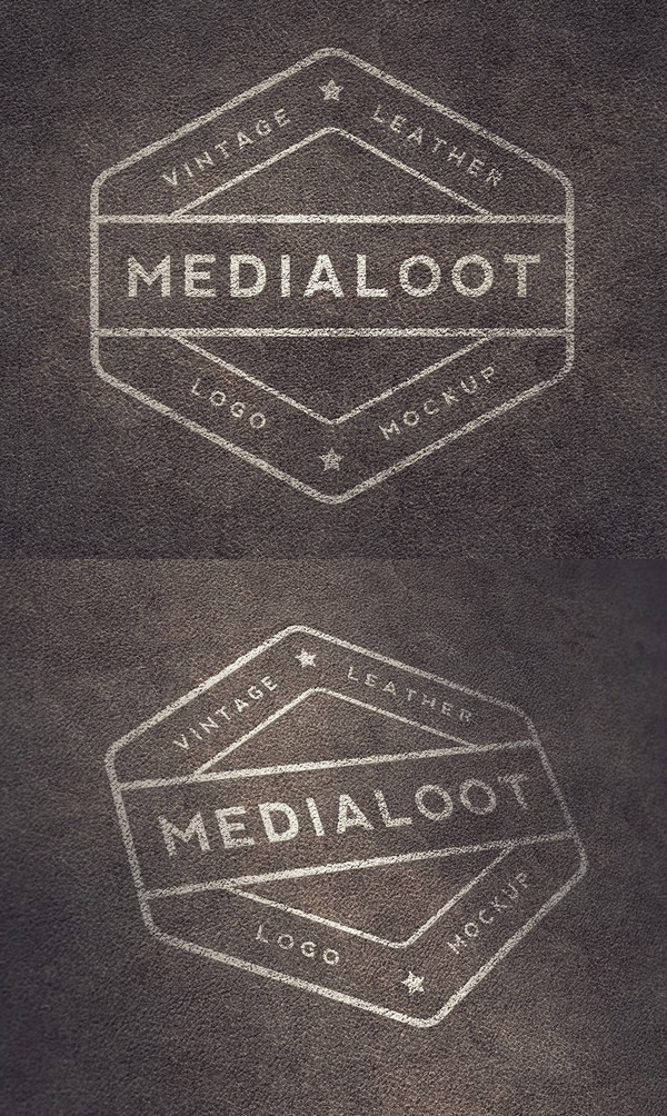 Free Vintage Leather Logo Mockups