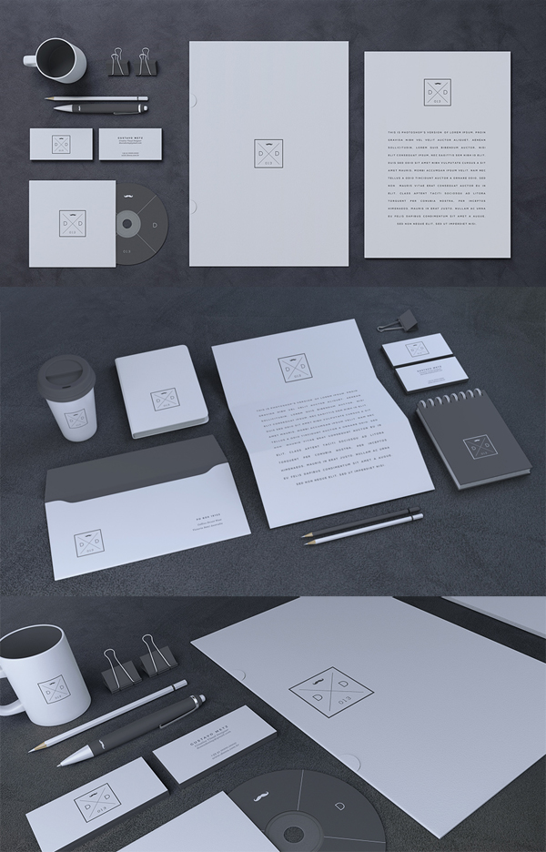 Stationery Design Template Psd