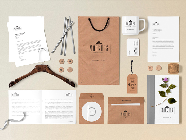 Free Stationery Mock-Up Scene Builder