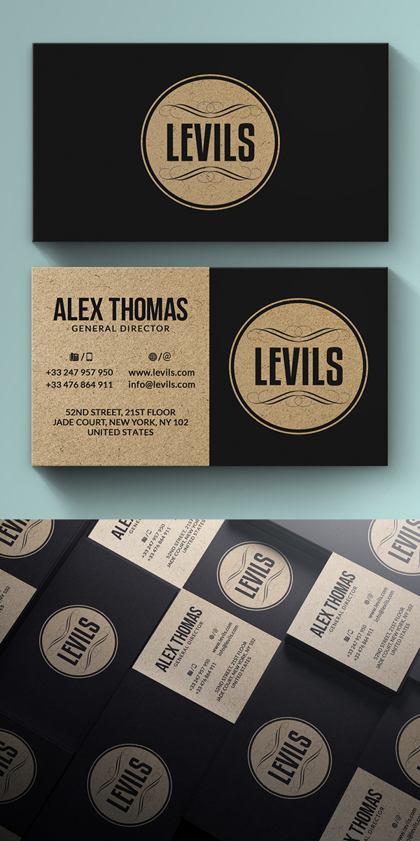 Modern Kraft Business Card