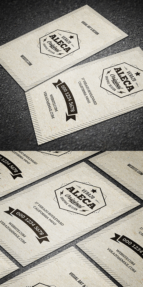 Clean & Stylish Retro Business Card