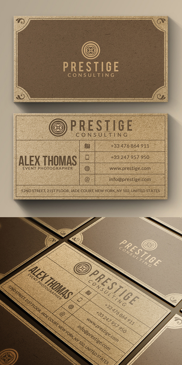 Retro Kraft Business Card