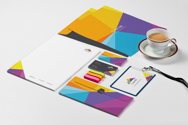 Free Photorealistic Stationary Mockups using Smart Objects