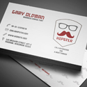 Post thumbnail of Freebie – Hipster Business Card PSD Template
