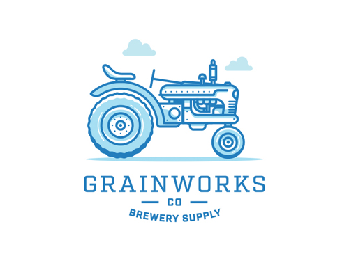 Grainworks Co. Line Logo Design by Jordan Wilson
