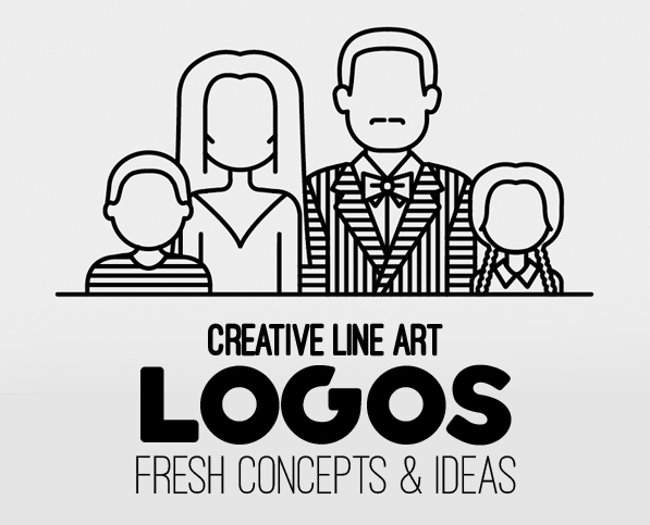 Line Art Logo : Line art logo design fresh concepts and ideas logos