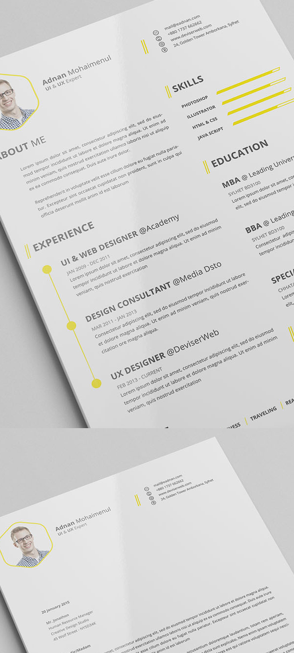 Cover Resume Mini Stic Cv Resume Templates Cover Letter Template