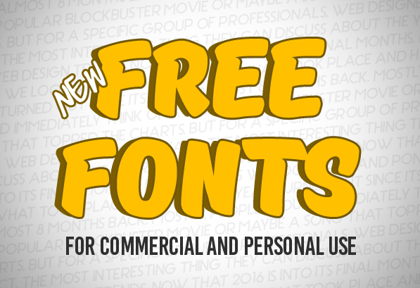 New Free Fonts For Commercial Use Fonts Graphic Design