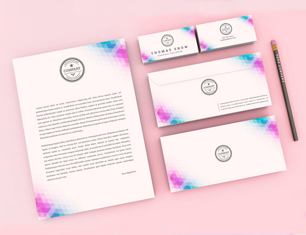 Free Modern Stationary Kit Mockup