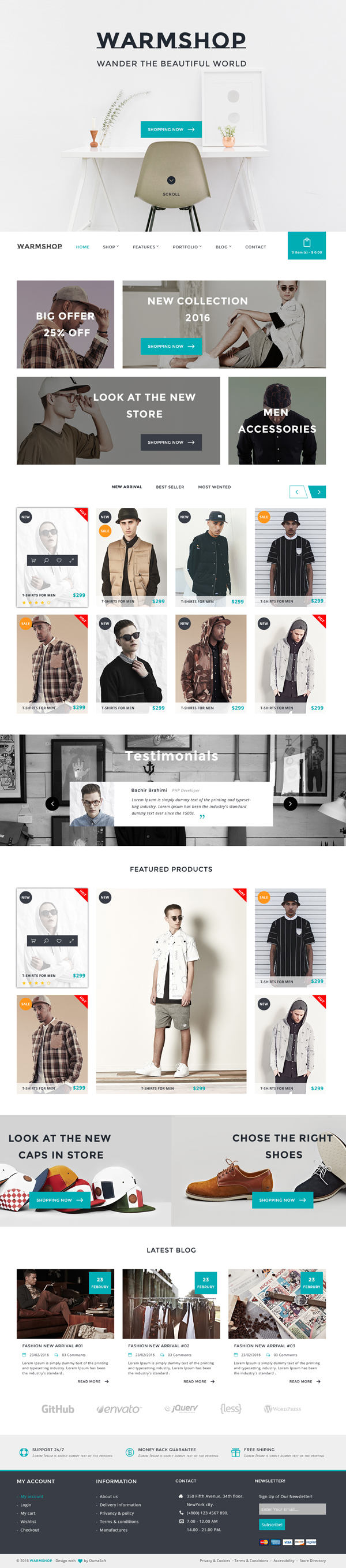 Warmshop - Minimal eCommerce PSD Template