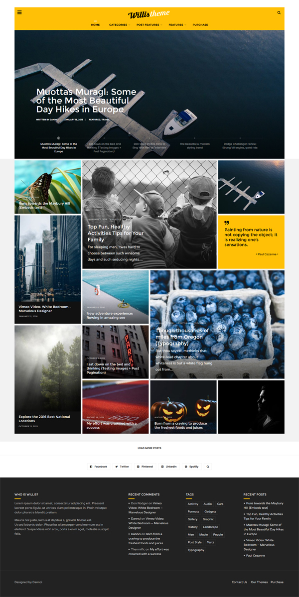 Willis - Modern Personal Blog WordPress Theme