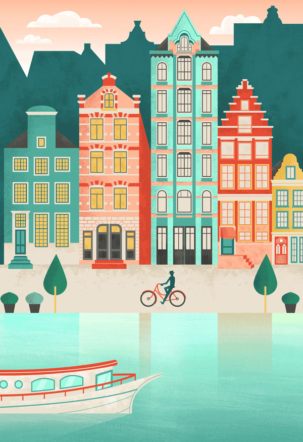 How to Create an Amsterdam Cityscape in Adobe Illustrator and Photoshop