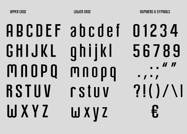Arch fonts and letters