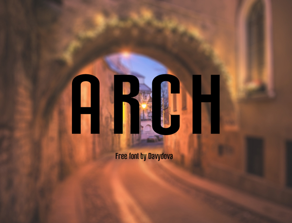 Arch free fonts