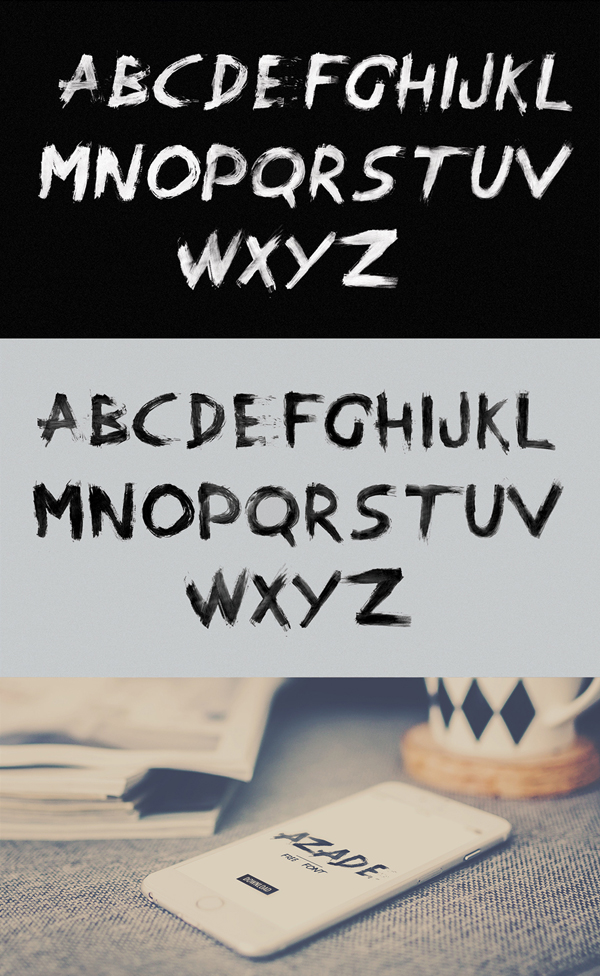 Azade fonts and letters